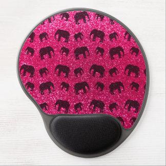 Modelo del brillo del elefante rosado de rosa alfombrillas de ratón con gel