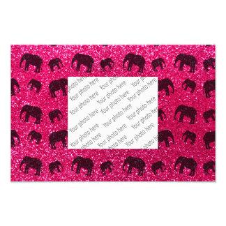 Modelo del brillo del elefante rosado de rosa cojinete