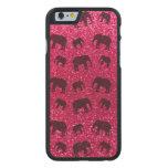 Modelo del brillo del elefante rosado de rosa funda de iPhone 6 carved® de arce