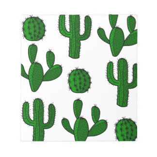 Modelo del cactus - transparente bloc de notas