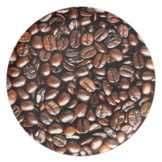 Modelo del café de la haba entera plato