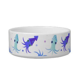 Modelo del calamar del fiesta comedero para mascota