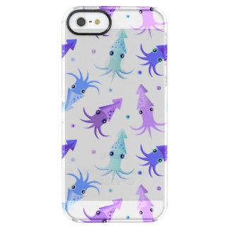 Modelo del calamar del fiesta funda clear para iPhone SE/5/5s