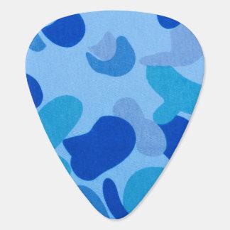 Modelo del camuflaje de los azules marinos plumilla de guitarra