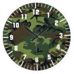 modelo del camuflaje del ejército relojes de pared