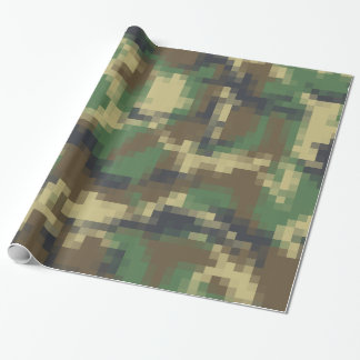 Modelo del camuflaje del pixel de Digitaces Papel De Regalo