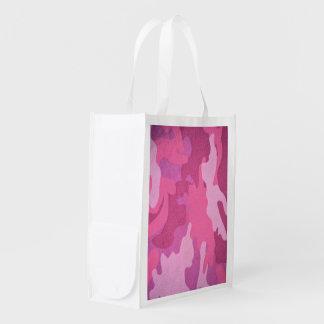 Modelo del camuflaje del rosa del combate de la bolsa de la compra