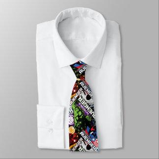 Modelo del carácter de vengadores corbata