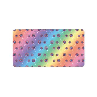 modelo del caramelo del arco iris etiquetas de dirección