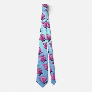 Modelo del cerdo de cabezas y de las colas corbata personalizada
