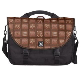 Modelo del chocolate bolsas para ordenador