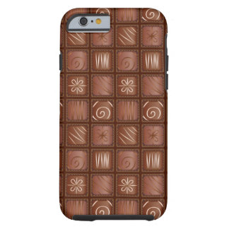Modelo del chocolate funda para iPhone 6 tough
