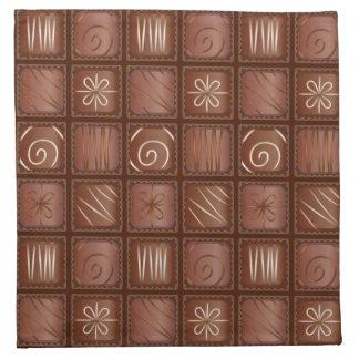 Modelo del chocolate servilletas imprimidas