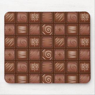 Modelo del chocolate tapete de ratón
