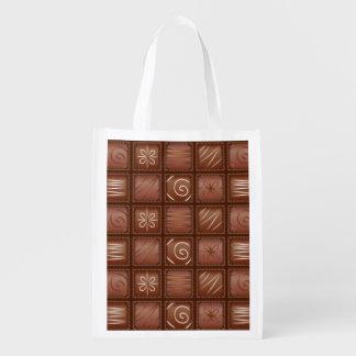 Modelo del chocolate bolsas reutilizables