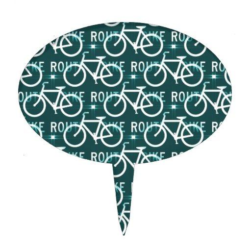 Modelo del ciclista de la bici de Fixie de la ruta Decoración De Tarta