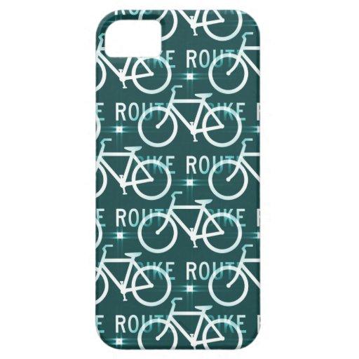 Modelo del ciclista de la bici de Fixie de la ruta iPhone 5 Case-Mate Funda