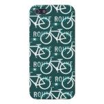 Modelo del ciclista de la bici de Fixie de la ruta iPhone 5 Fundas