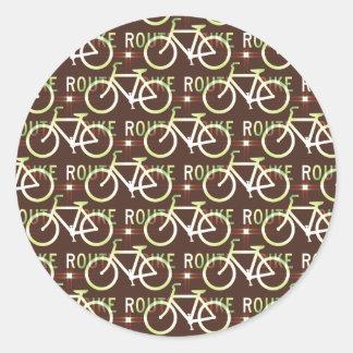 Modelo del ciclista de la bici de Fixie de la ruta Pegatinas