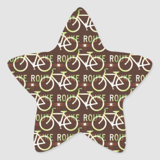 Modelo del ciclista de la bici de Fixie de la ruta Calcomania Cuadrada Personalizada
