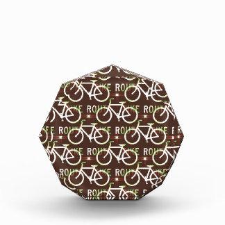 Modelo del ciclista de la bici de Fixie de la ruta