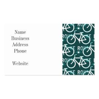Modelo del ciclista de la bici de Fixie de la ruta Tarjetas De Visita