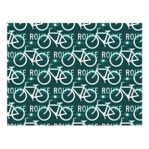 Modelo del ciclista de la bici de Fixie de la ruta Tarjetas Postales