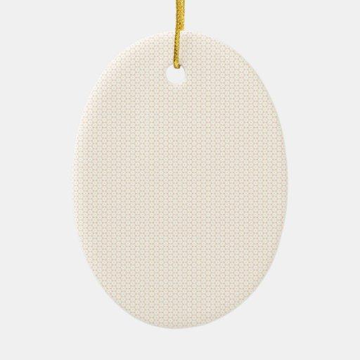 Modelo del círculo adorno navideño ovalado de cerámica