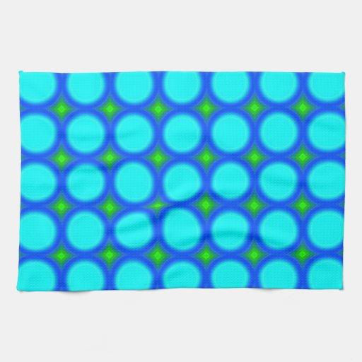 modelo del círculo coloreado tres toalla