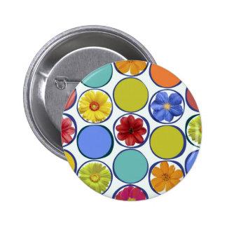 Modelo del círculo con las flores JPEG Pins