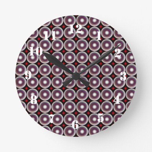 Modelo del círculo relojes de pared