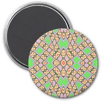Modelo del círculo y del cuadrado imán redondo 7 cm
