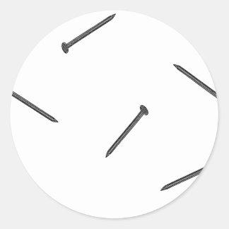 modelo del clavo pegatina redonda