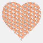 Modelo del cochecito de bebé en naranja pegatinas de corazon personalizadas