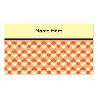 Modelo del color de la terracota tarjetas de visita