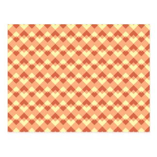 Modelo del color de la terracota tarjetas postales