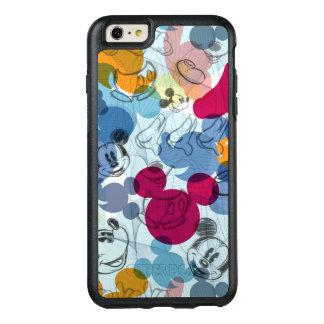 Modelo del color de Mickey Mouse el   Funda Otterbox Para iPhone 6/6s Plus