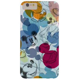 Modelo del color de Mickey Mouse Funda Para iPhone 6 Plus Barely There