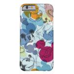 Modelo del color de Mickey Mouse Funda De iPhone 6 Barely There