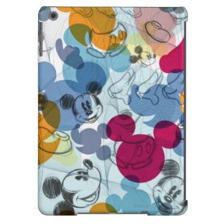 Modelo del color de Mickey Mouse Funda Para iPad Air