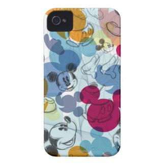 Modelo del color de Mickey Mouse iPhone 4 Case-Mate Cobertura