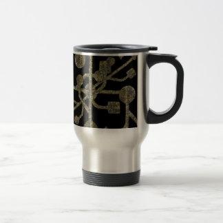 Modelo del concepto de la conectividad tazas de café