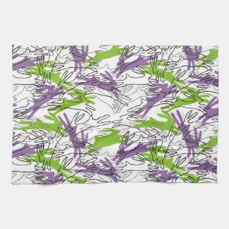 Modelo del conejo en uva y cal toallas de mano