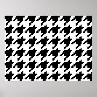 Modelo del control de Houndstooth del pixel de 8 Póster