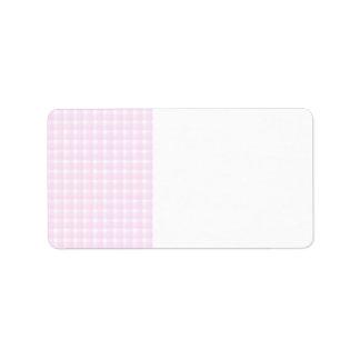Modelo del control de la guinga Palidezca - rosa Etiqueta De Dirección