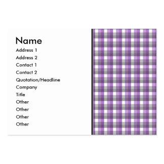 Modelo del control de la guinga. Púrpura, gris, Tarjetas De Visita Grandes