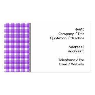 Modelo del control de la guinga. Púrpura y blanco Tarjetas De Visita