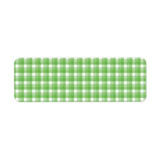 Modelo del control de la guinga. Verde y blanco Etiqueta De Remite