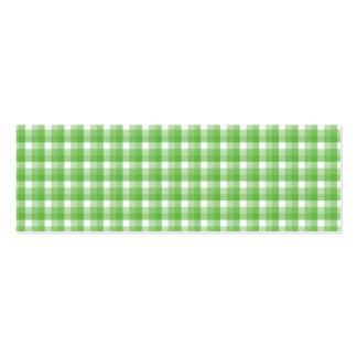 Modelo del control de la guinga. Verde y blanco Tarjetas De Visita Mini