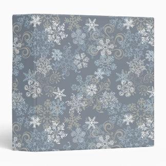 "Modelo del copo de nieve carpeta 1 1/2"""